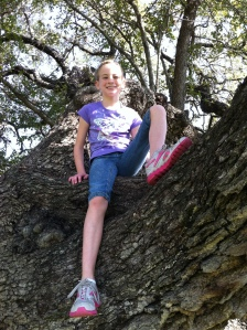 My daughter Emma, and the oak